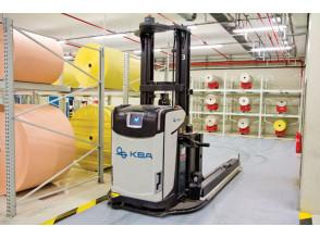 Rocla AGV: примеры автоматизированной транспортировки бумажных рулонов